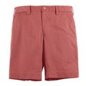 Red Cotton Twill Short