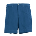 Blue Cotton Twill Short