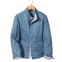 Blue Torino Quilted Jacket