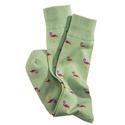Green Flamingo Socks
