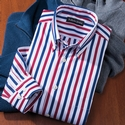 'Neil' Stripe Sport Shirt
