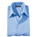 Blue 'Carmel' Herringbone Flannel Sport Shirt
