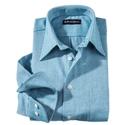 Green 'Carmel' Herringbone Flannel Sport Shirt