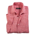Red Linen Short Sleeve
