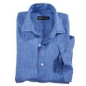 Blue Linen Short Sleeve