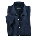 Navy Linen Short Sleeve