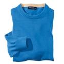 Blue Pima Cotton Crewneck