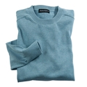 Blue Pima Cotton Crewneck