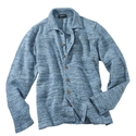 Light Navy Linen Shirt Jacket