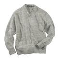 Grey Washed Linen V -Neck