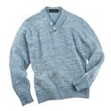 Blue Washed Linen V -Neck