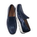 Black Woven Rubber Sole Moccasin by Trask