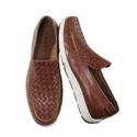Tan Woven Rubber Sole Moccasin by Trask