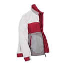 Red Reversible Color Block Zip Jacket