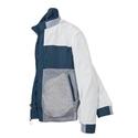 Navy Reversible Color Block Zip Jacket