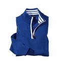 Royal Blue 'Varsity' Quarter Zip