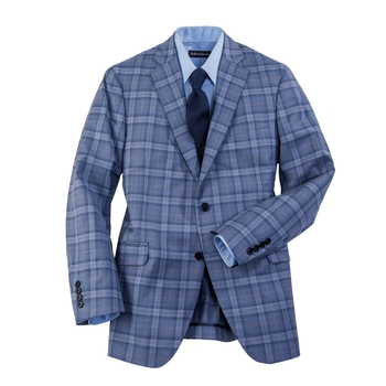 Featherweight Wool Plaid Sport Jacket