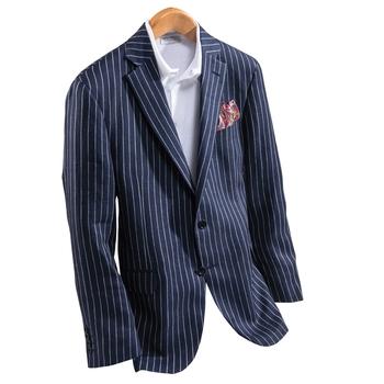 Mark Stripe Linen Sport Coat