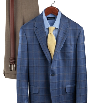 Layered Windowpane Sport Coat