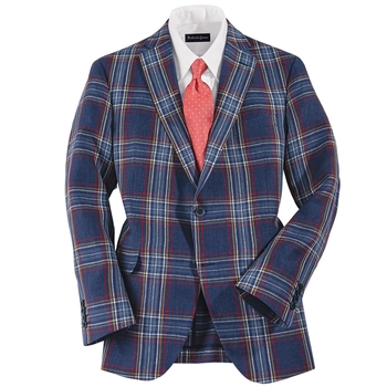 Linen Plaid Sport Coat