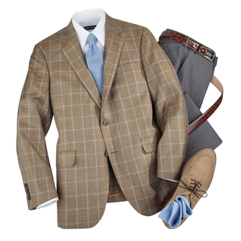 Tan Windowpane Sport Coat