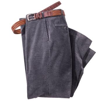 Bi-Color Stretch Corduroy Trousers