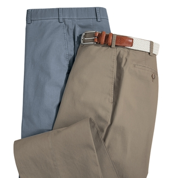 Stretch Cotton Lyocell Slacks