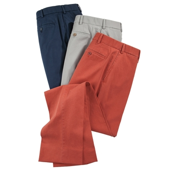 Cotton Linen Stretch Slacks