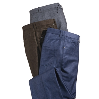Flannel Five-Pocket Jeans