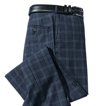 Atherton Wool Plaid Slacks