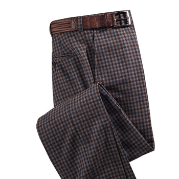 Sutton Wool Cashmere Check Slacks