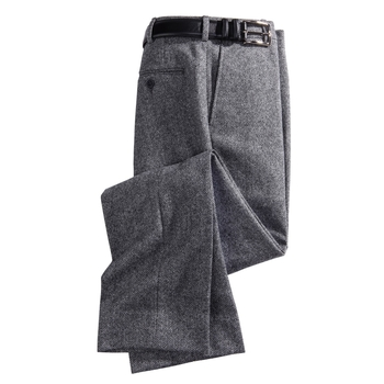 Wool Herringbone Slacks