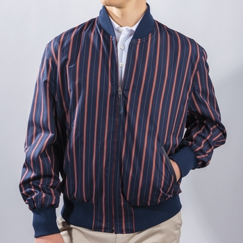 Brigade Stripe Baseball Jacket