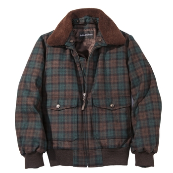 Julian Plaid Bomber Jacket