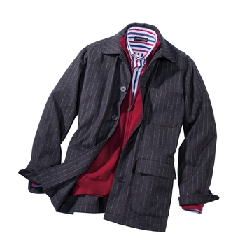 Mitchell Stripe Soft Jacket
