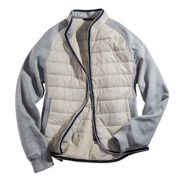 Knit and Nylon Jacket