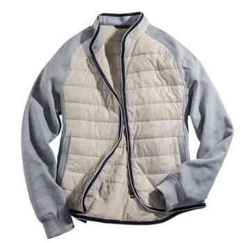 Knit and Nylon Jacket from Italy
