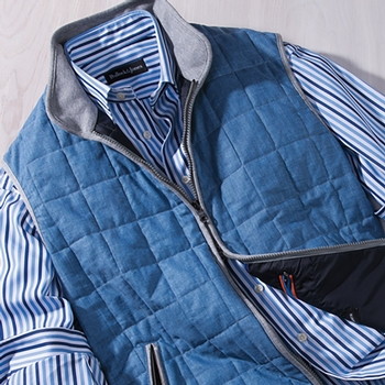 Lombard Quilted Linen Vest