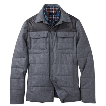 Silvano Wool Flannel Shirt Jacket