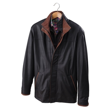Spencer Three Quarter Leather Jacket
