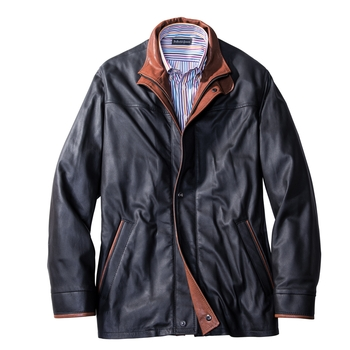 Monterey Three-Quarter Leather Jacket
