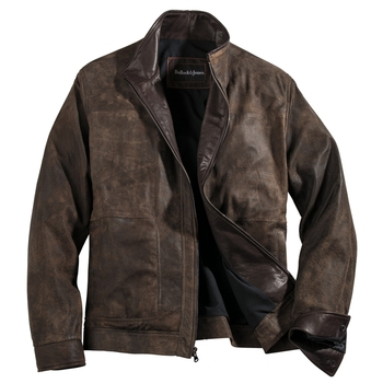 Julian Weathered Leather Jacket
