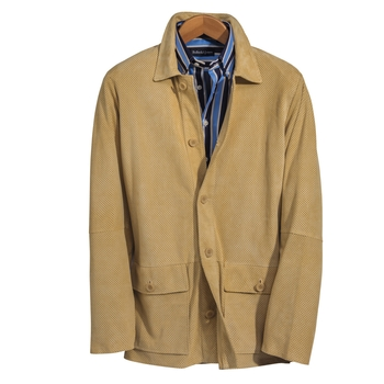 Featherweight Suede Three-Quarter Jacket