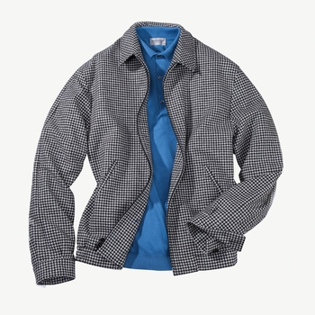 Wool Cashmere Houndstooth Blouson