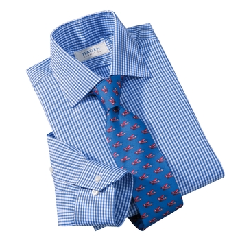 Micro-Gingham Check Dress Shirt by Hagen