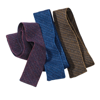 Herringbone Knit Ties
