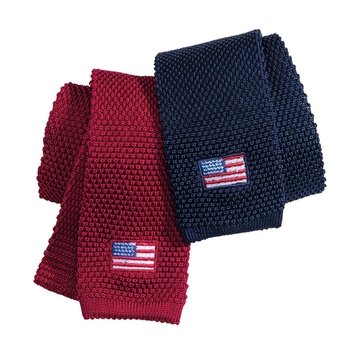 Silk Knit Flag Ties