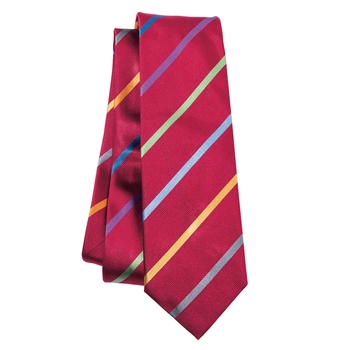 Multicolor Stripe Silk Tie