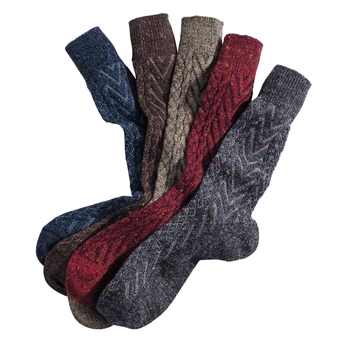 Donegal Wool & Alpaca Chevron Socks