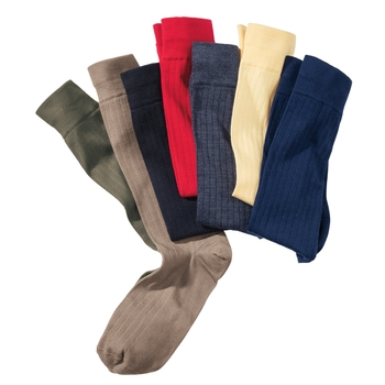 Merino Wool Ribbed Sport Socks
